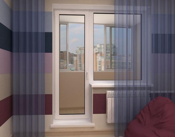 Лучшее окно с балконной дверью